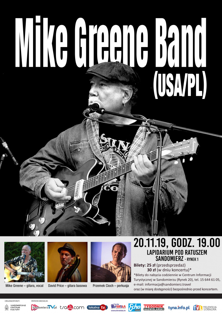 Mike Greene Band zagra w Sandomierzu